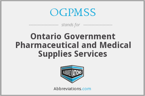 What does OGPMSS stand for?