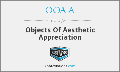 OOAA - Objects Of Aesthetic Appreciation