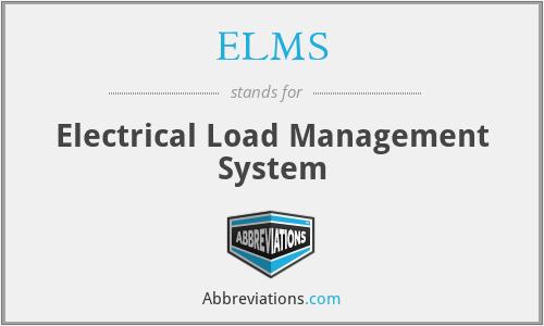 ELMS - Electrical Load Management System