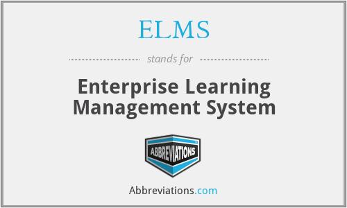 ELMS - Enterprise Learning Management System