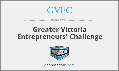 GVEC - Greater Victoria Entrepreneurs' Challenge