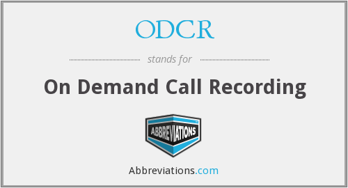 What does ODCR stand for?