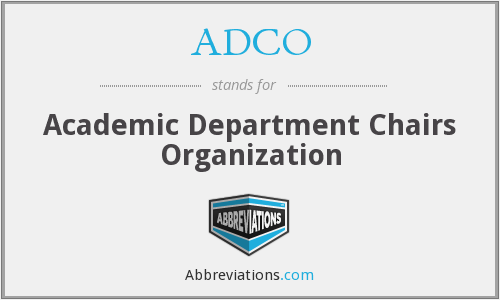 ADCO - Academic Department Chairs Organization