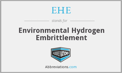 EHE - Environmental Hydrogen Embrittlement