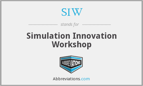SIW - Simulation Innovation Workshop