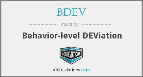 What does BDEV stand for?