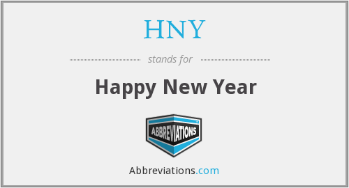 What does HNY stand for?