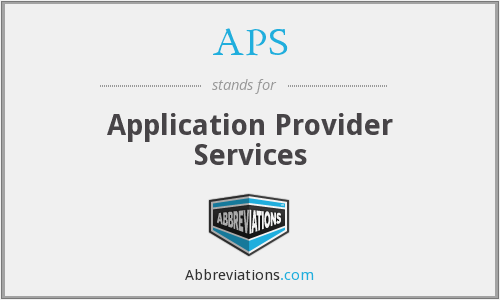 APS - Application Provider Services
