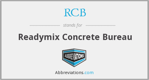 RCB - Readymix Concrete Bureau
