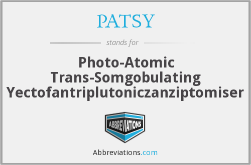 What does PATSY stand for?