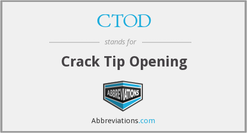 CTOD - Crack Tip Opening