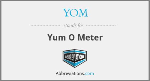 YOM - Yum O Meter