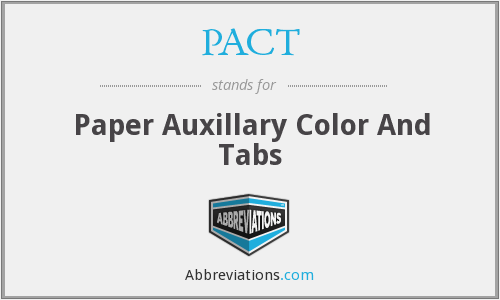 PACT - Paper Auxillary Color And Tabs