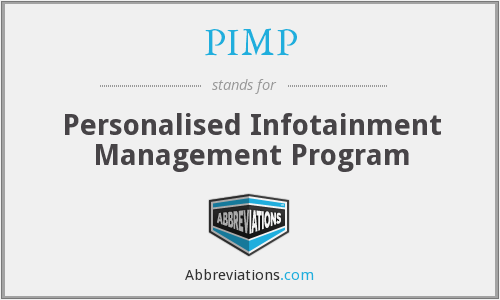 PIMP - Personalised Infotainment Management Program