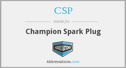 CSP - Champion Spark Plug