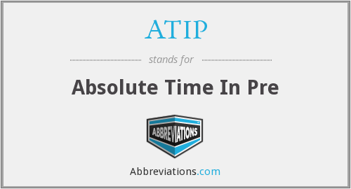 ATIP - Absolute Time In Pre