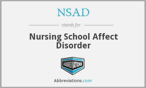 NSAD - Nursing School Affect Disorder