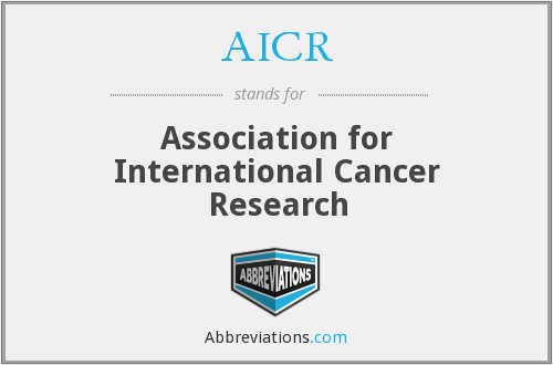 AICR - Association for International Cancer Research