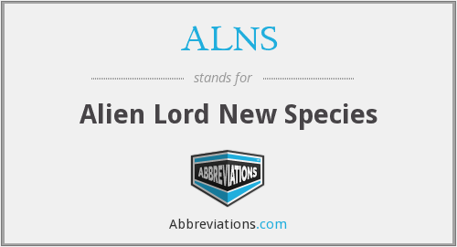ALNS - Alien Lord New Species