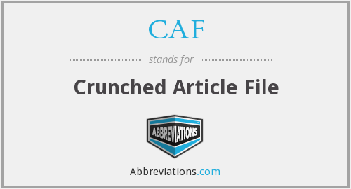 CAF - Crunched Article File