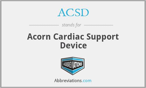 ACSD - Acorn Cardiac Support Device