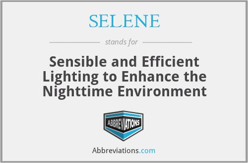 SELENE - Sensible and Efficient Lighting to Enhance the Nighttime Environment