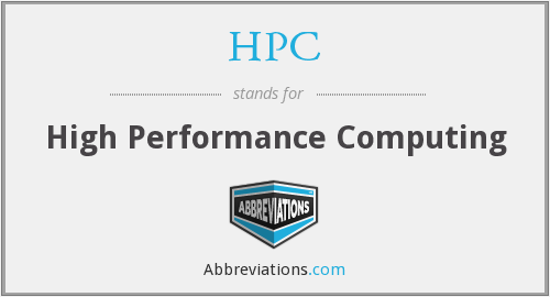 HPC - High Performance Computing