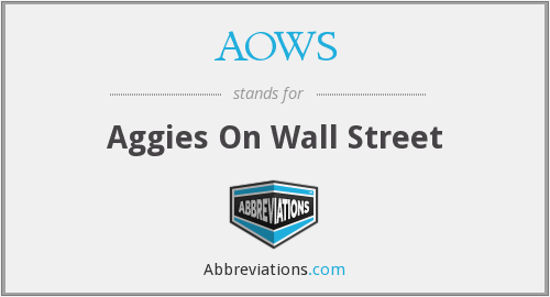 What does AOWS stand for?