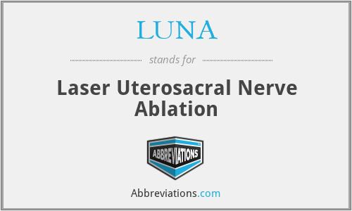 LUNA - Laser Uterosacral Nerve Ablation