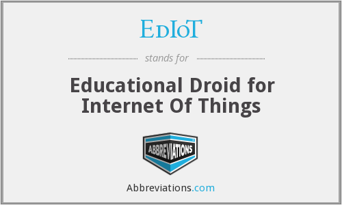 What does EDIOT stand for?