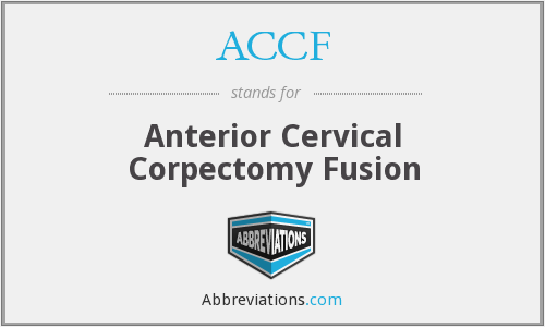 ACCF - Anterior Cervical Corpectomy Fusion