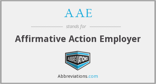 AAE - Affirmative Action Employer