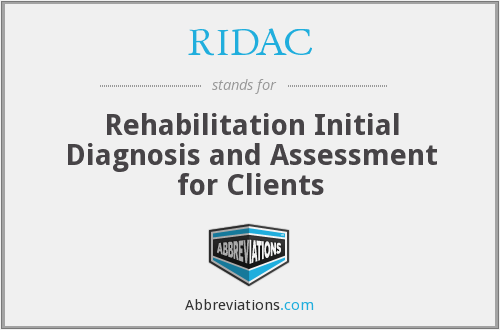 RIDAC - Rehabilitation Initial Diagnosis and Assessment for Clients
