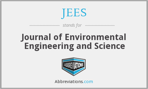 JEES - Journal of Environmental Engineering and Science