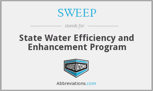 SWEEP - State Water Efficiency and Enhancement Program