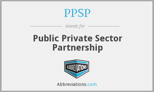 PPSP - Public Private Sector Partnership