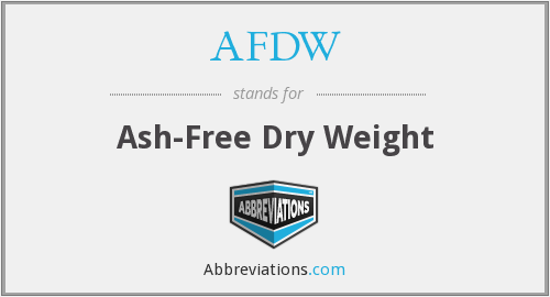 What does AFDW stand for?