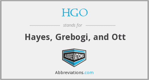 HGO - Hayes, Grebogi, and Ott