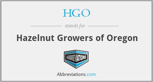 HGO - Hazelnut Growers of Oregon