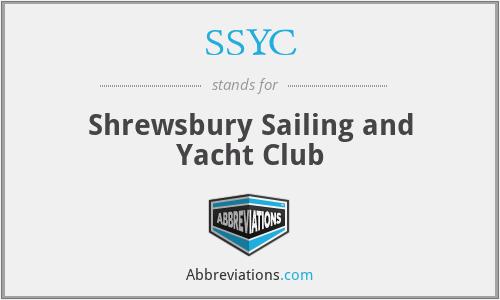 SSYC - Shrewsbury Sailing and Yacht Club