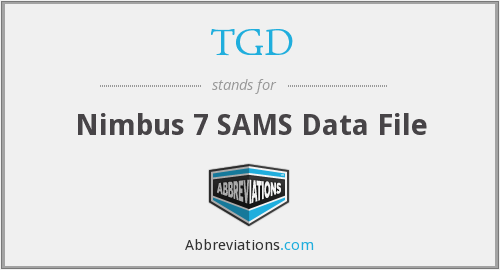TGD - Nimbus 7 SAMS Data File