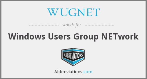 WUGNET - Windows Users Group NETwork