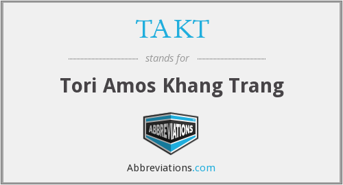 TAKT - Tori Amos Khang Trang