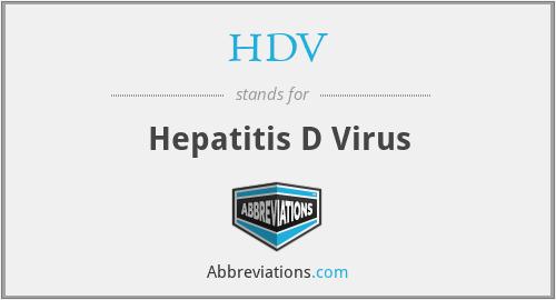 HDV - Hepatitis D Virus