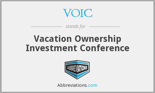 VOIC - Vacation Ownership Investment Conference