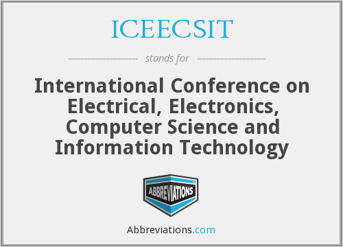 What does ICEECSIT stand for?