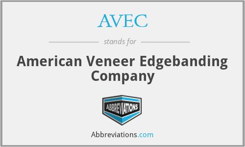 AVEC - American Veneer Edgebanding Company