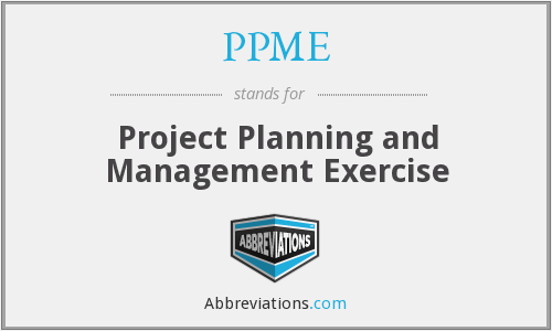 PPME - Project Planning and Management Exercise