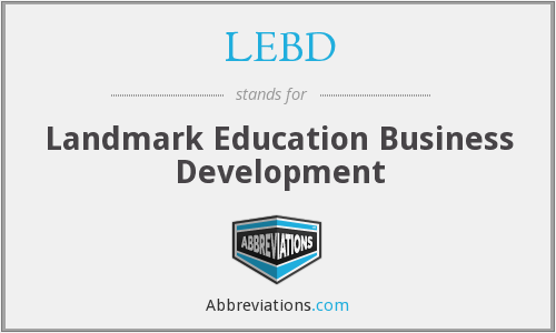 LEBD - Landmark Education Business Development