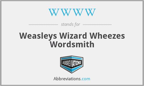 WWWW - Weasleys Wizard Wheezes Wordsmith